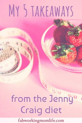My 5 takeaways from the Jenny Craig diet