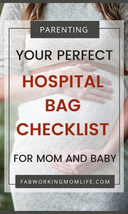hospital bag checklist for mom and baby