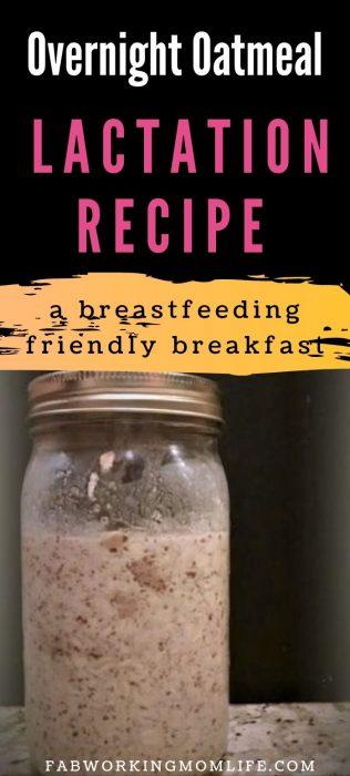 lactation oatmeal recipe, a healthy breastfeeding-friendly breakfast.