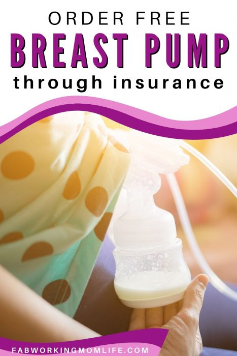 order breast pump through insurance