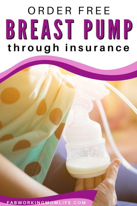 order breast pump through insurance