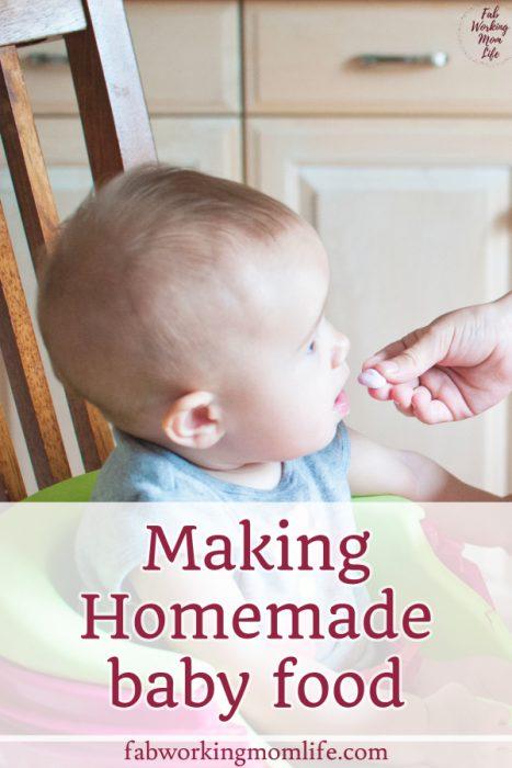 making Homemade baby food