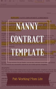 Nanny Contract Template cover