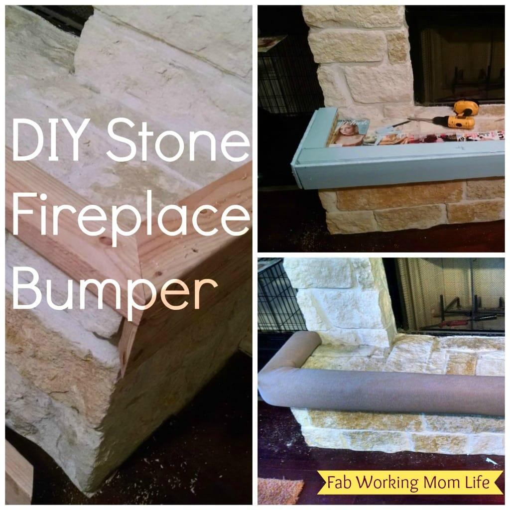 diy stone fireplace bumper