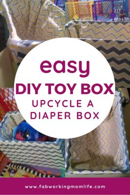 Easy Diaper Box DIY Upcycle to Toy Box