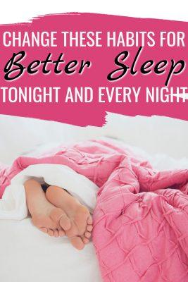 habits for better sleep tonight