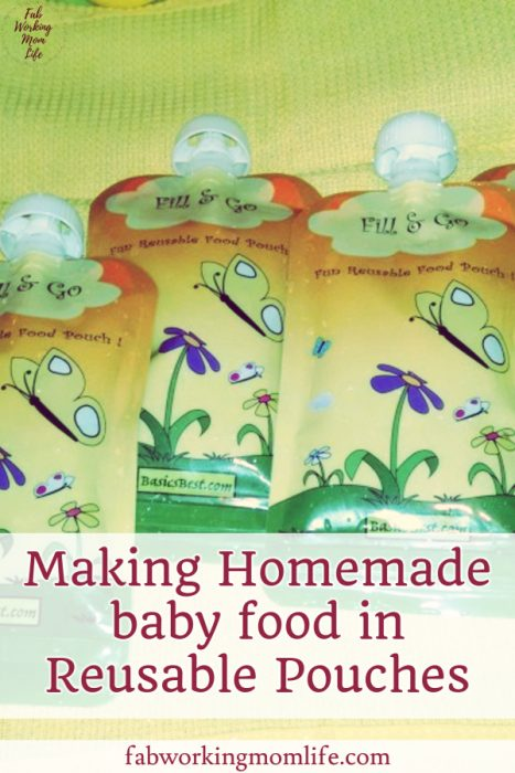 Making Homemade baby food in Reusable Pouches