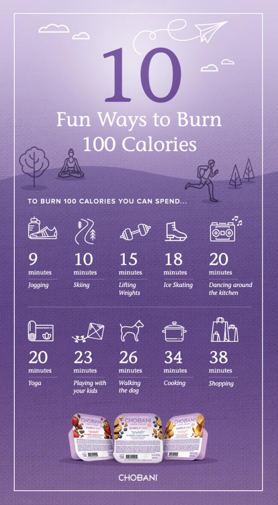 10 Ways to Burn 100 Calories