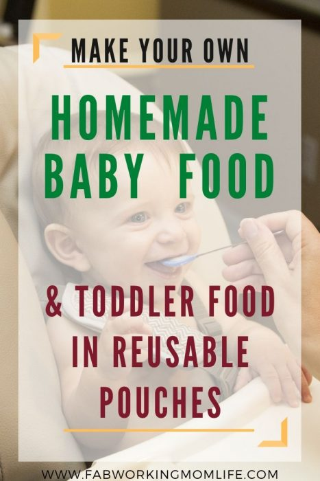 make your own baby food and toddler food in reusable pouches