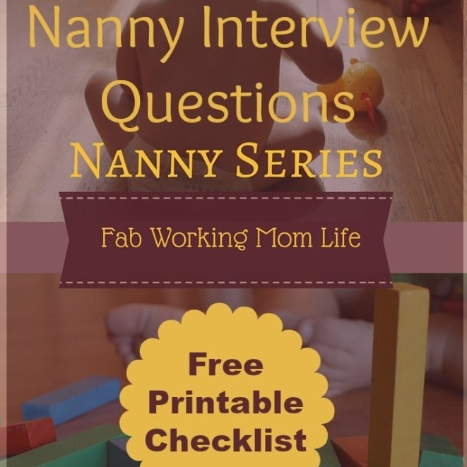 Nanny Interview Questions Printable Checklist