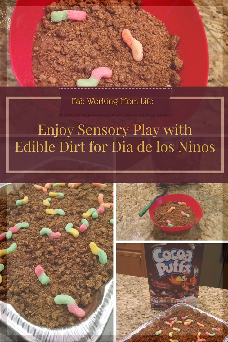 Enjoy Sensory Play with Edible Dirt for Dia de los Ninos