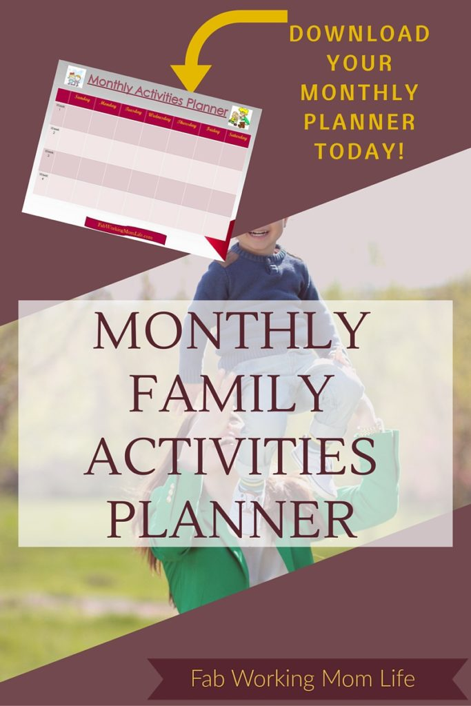 Download Your Monthly Family Activities Planner