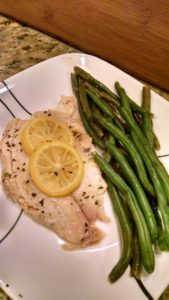 easy tilapia steamed dinner