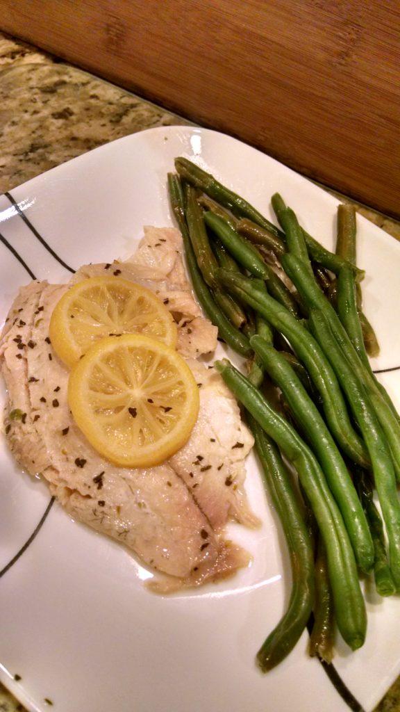 easy tilapia steamed dinner