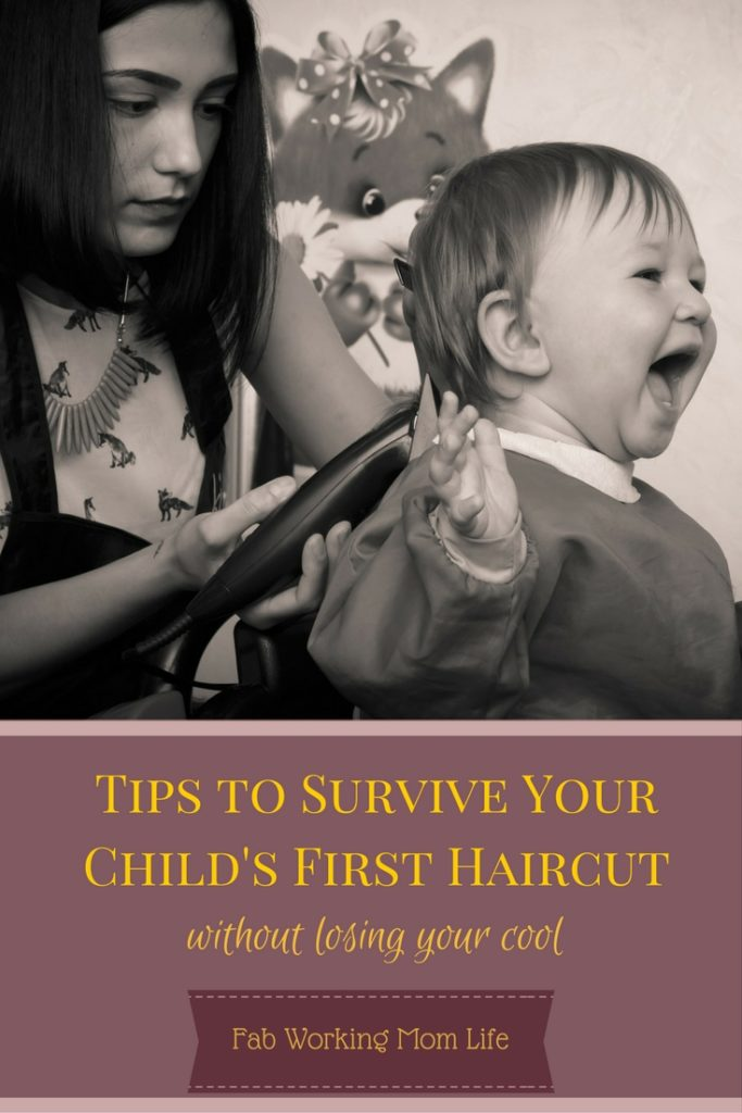 Tips to Survive your child's first haircut