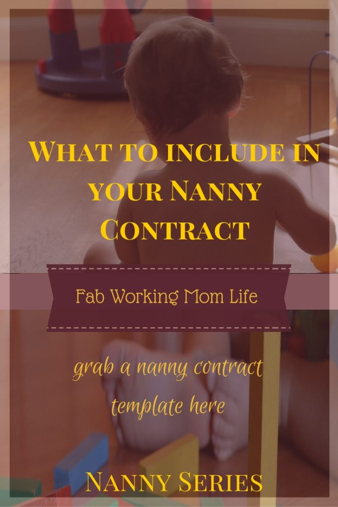 What to include in a nanny contract