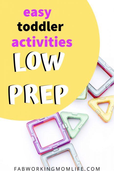 easy toddler activities no prep