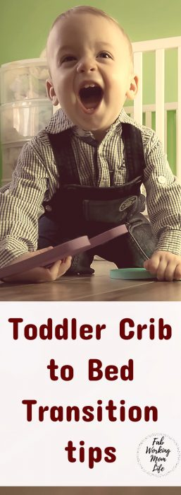 Sharing our transition from crib to toddler bed advice - Toddler Crib to Bed Transition Tips #parenting #toddlers