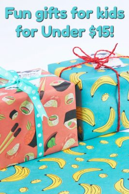 fun gifts for kids for under 15