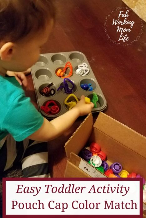 Easy Toddler Activity Pouch Cap Color Match