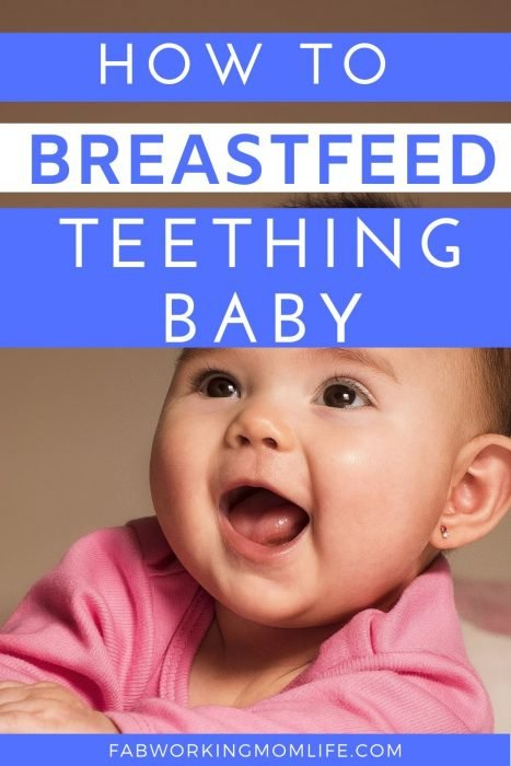 breastfeed teething baby