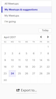 Export Meetup.com Events