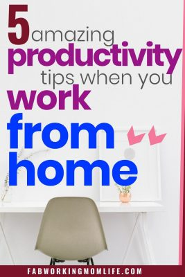 amazing productivity tips when you work from home