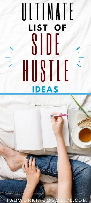ultimate list of side hustle ideas