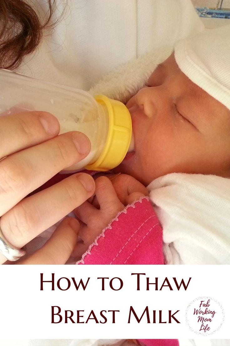 How to Thaw Breast Milk | Thawing Breastmilk | Breastfeeding Moms