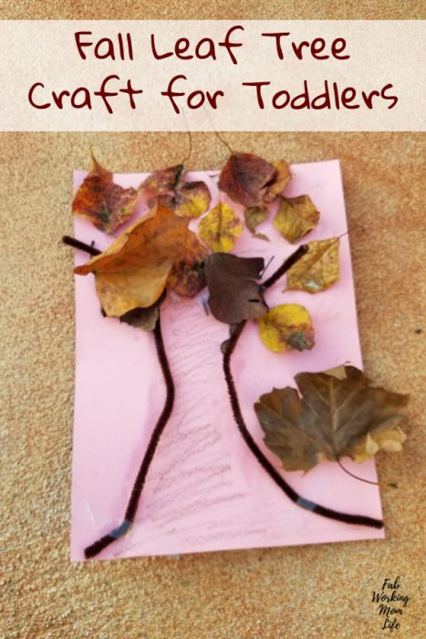 Fall Leaf Tree Craft for Toddlers   Fab Working Mom Life #parenting #fall #toddlers #toddleractivity #fallactivities #preschooler #toddlercraft