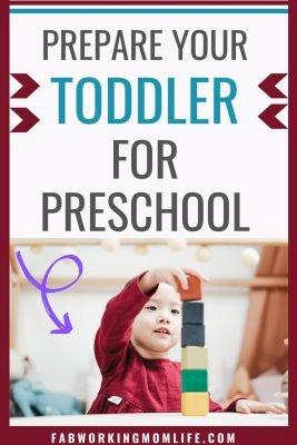 prepare your toddler for preschool