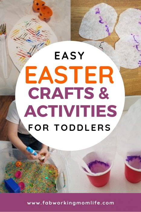 Keep reading for some fun Easter crafts for preschoolers and other ideas for Easter crafts for toddlers to make!   Fab Working Mom Life   #toddlers #preschoolers #eastercrafts #easter #parenting