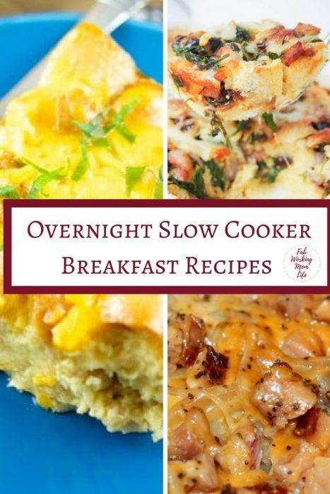 Overnight Slow Cooker Breakfast Recipes | Fab Working Mom Life | #breakfast #brunch #slowcooker #easyrecipes| Overnight Breakfast Bake, Overnight Breakfast Casserole, Mother's day brunch, slow cooker breakfast recipes