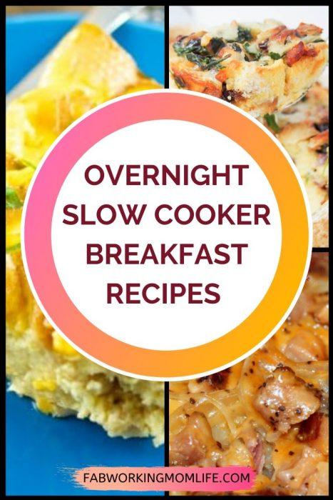 Slow Cooker Overnight Breakfast Recipes