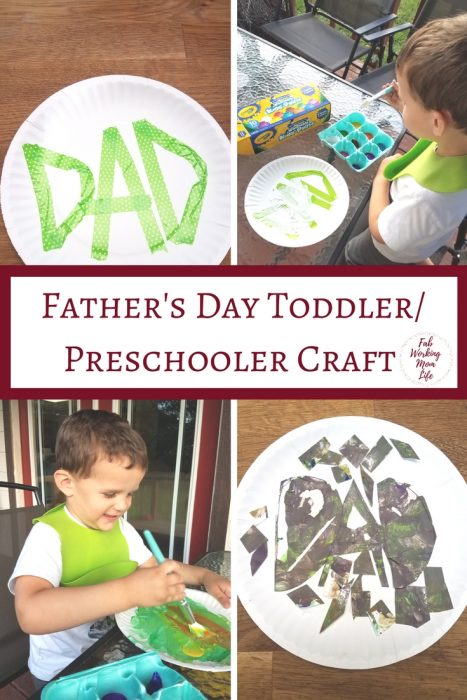Father's Day Toddler Craft (or how to salvage a craft gone wrong)   Fab Working Mom Life #fathersday #toddlercraft #toddleractivity toddler crafts and activities, preschooler craft ideas, father's day card from children ideas, father's day, make a father's day card with your toddler