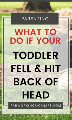 toddler fell and hit back of head