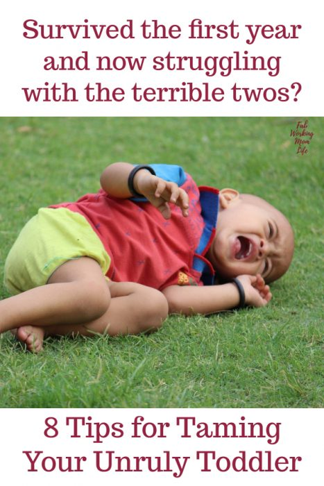 Survived the first year and now struggling with the terrible twos? Read these 8 Tips for Taming Your Unruly Toddler   Fab Working Mom Life - mom advice #parenting #toddlers #tantrums #behavior #parentingtips #positiveparenting