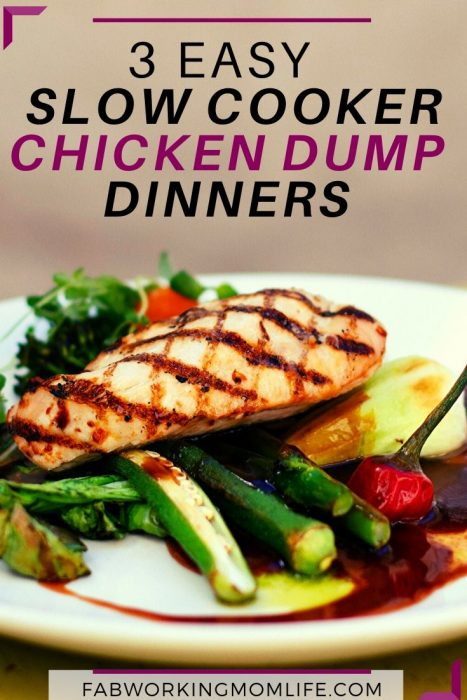3 easy slow cooker chicken dump dinners