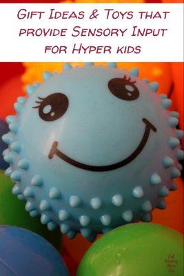 Toys that provide Sensory Input for Hyper kids   Fab Working Mom Life #sensory #giftideas #giftguide #adhd #vestibular #proproceptive