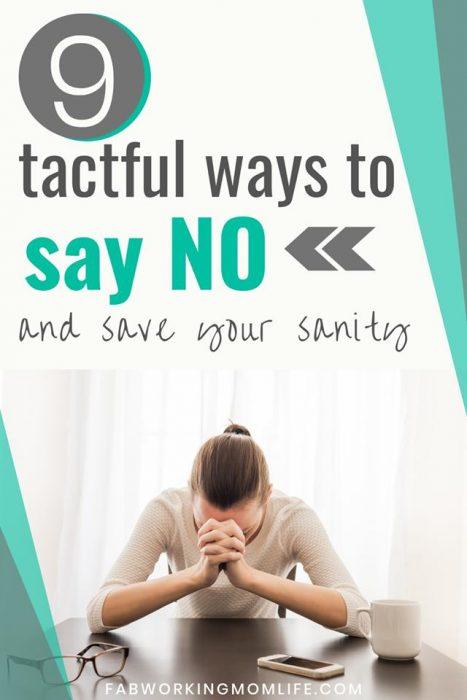 9 tactful ways to say no