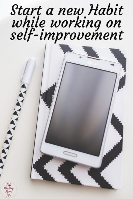 Start a new Habit while working on self-improvement! Download this habit tracker now!   Fab Working Mom Life #habit #productivity #selfimprovement #momlife #motherhood #workingmom