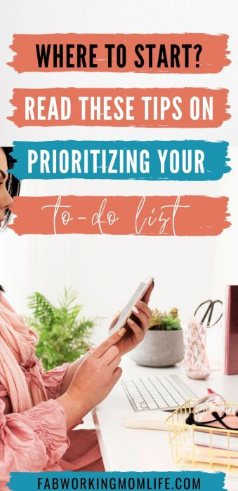 where to start - tips on prioritize your to do list