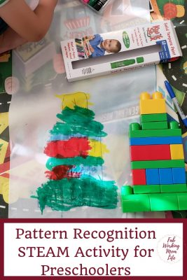 Pattern Recognition STEAM Activity for Preschoolers | Fab Working Mom Life #steam #stem #preschool #kidactivity