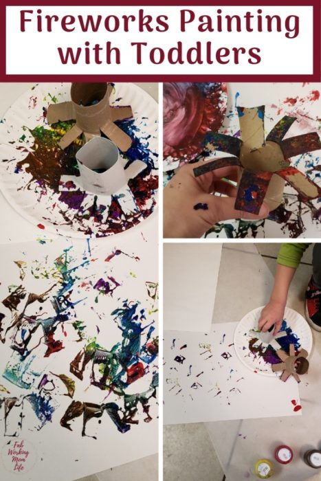 Fireworks Painting with Toddlers and Preschoolers | Fab Working Mom Life