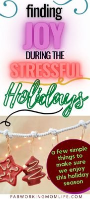 finding joy during stressful holidays