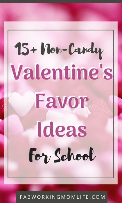 list of non-candy valentines favor ideas for school kids