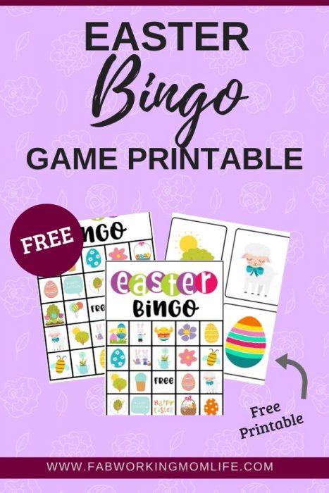Easter Bingo Game Printable