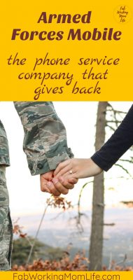 armed forces mobile phone services company that gives back