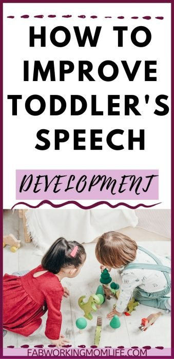 improve toddler speech development
