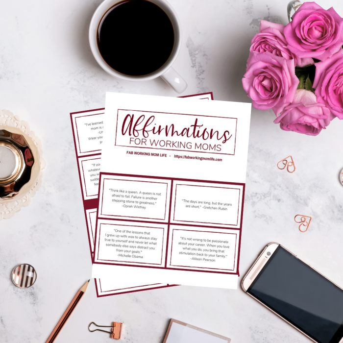 affirmations for working moms